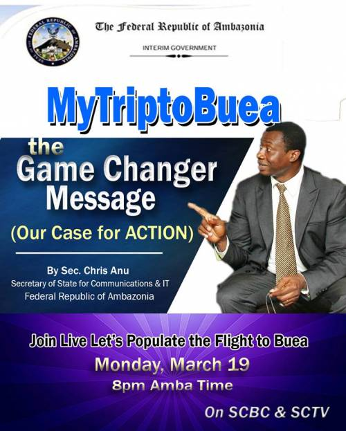 MyTriptoBuea. The Game Changer Message By Sec. Chris Anu