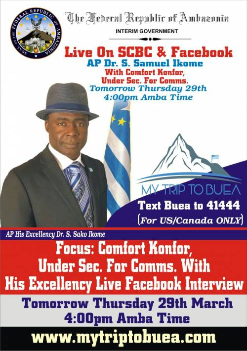 Under Secretary for communications and IT, Comfort  Konfor with AP His Excellency Dr.Samuel Ikome Live Interview.