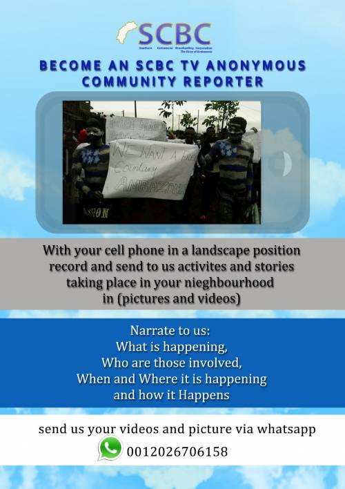 Become an SCBC TV Anonymous Community Reporter.