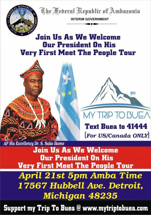 Our Acting President shall be on his first Meet The People Tour this April 21st at Michigan