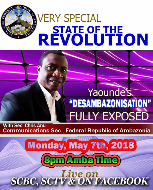 Very Special State of the Revolution with @Secominfo. Yaounde's DESAMBAZONISATION FULLY EXPOSED.