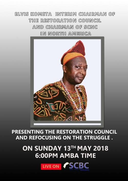 Presenting the Restoration Council and Refocusing on the Struggle