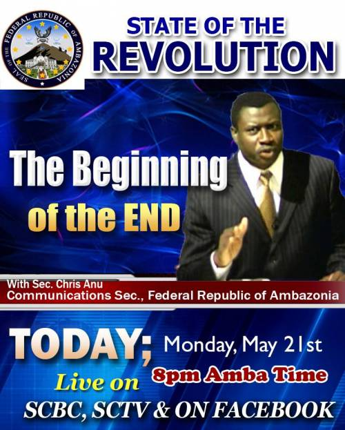 State of the Revolution: The Beginning of the end with  Chris Anu