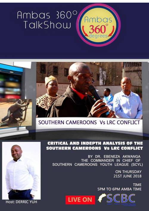 Critical and in-depth analysis of the Southern Cameroons Vs LRC conflict by Dr. Ebenezer D.M.Akwanga. The Commander in Chief of the Southern Cameroons Youth League (SCYL).