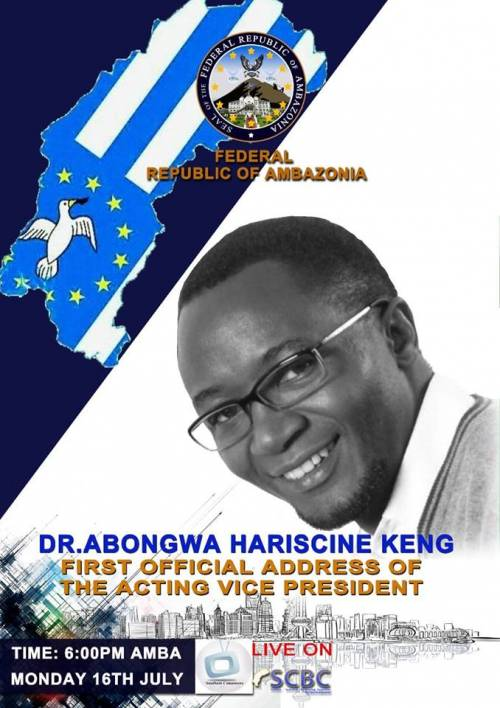 Dr. Abongwa Hariscine Keng; First Official Address of the Acting Vice President.