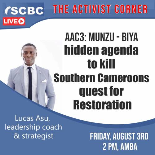 """SCBC is launching a new program title """"THE ACTIVIST CORNER"""""""