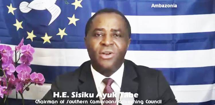 The Interim Government condemns and request the release of the interim president Sisiku Ayuk Tabe